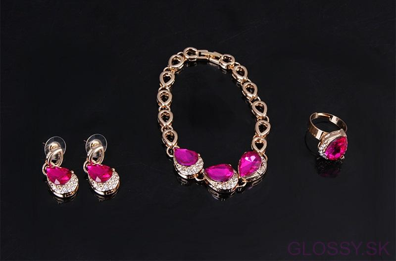 Set Rose crystal